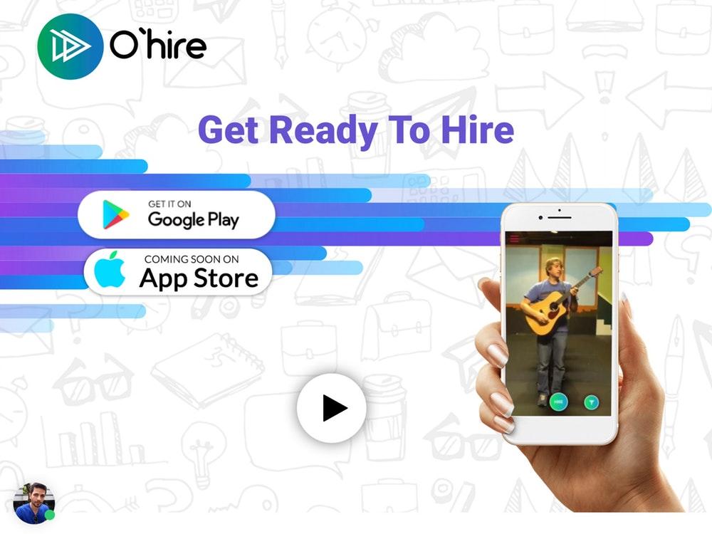 برنامه موبایلی رزومه ویدیویی Ohire 1