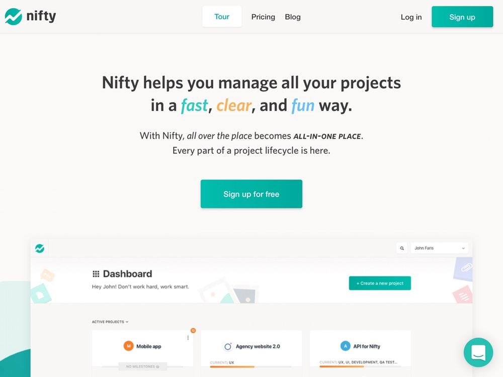 سایت مدیریت پروژه Nifty