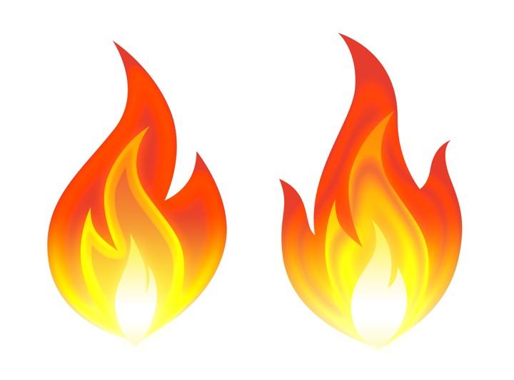 لایه باز نماد شعله آتش psd 1