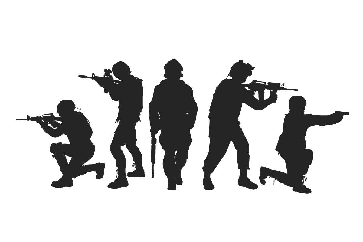 لایه باز وکتور سربازان