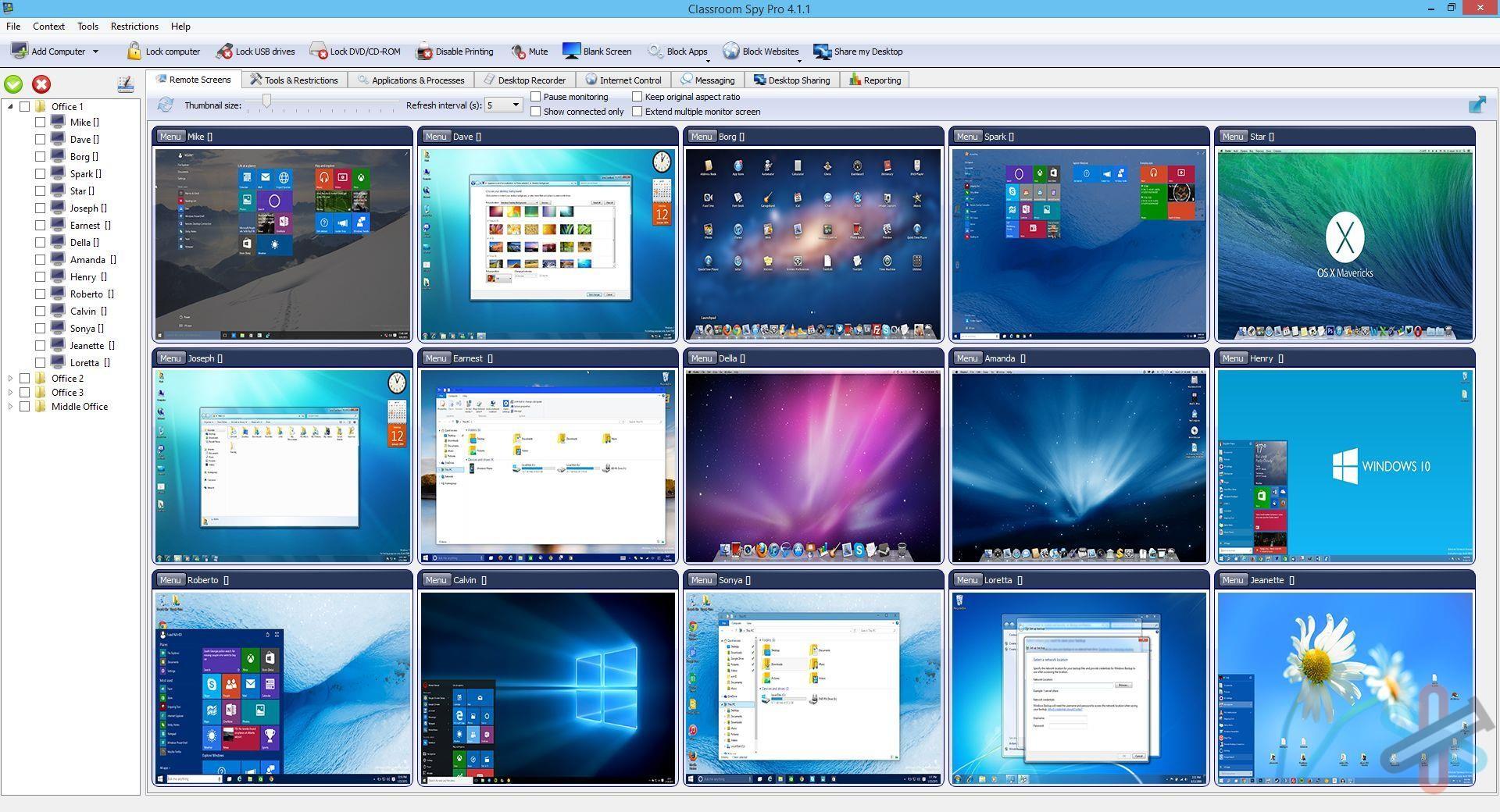 دانلود نرم افزار کنترل فعالیت ها در ویندوز | Classroom Spy Pro 4.4.11